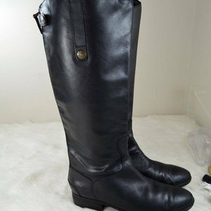 Sam Edelman Penny Black Leather Riding Boots 9M